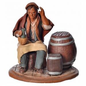 Krippe aus Terrakotta: Kellermeister 18cm für Krippe Terrakotta Deruta