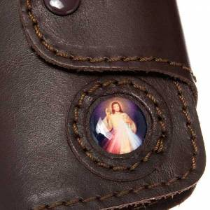 Key Rings: Key case in leather with 6 hooks, Jesus image