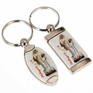 Key Rings: Keychain in metal image of Our Lady of Medjugorje