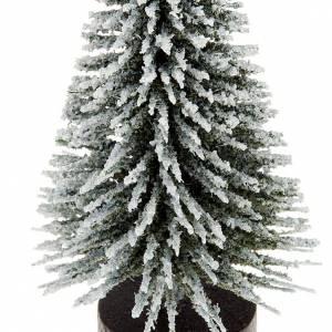 Moos, Stroh und Bäume für Krippe: Kiefern mit Schnee fuer Krippe