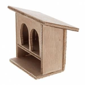 Zwierzęta do szopki: STOCK Klatka dla królików podwójna do szopki drewno 8-10 cm