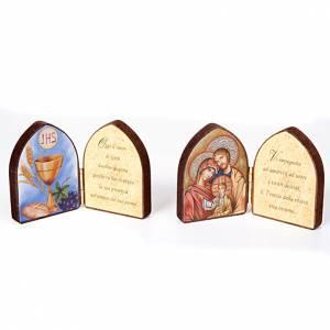 Bilder, Miniaturen, Drucke: Klein Tafel Bild und Schrift