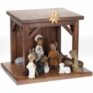 Krippe Bethlèem: Kleine gefarbte Krippe Bethlehem