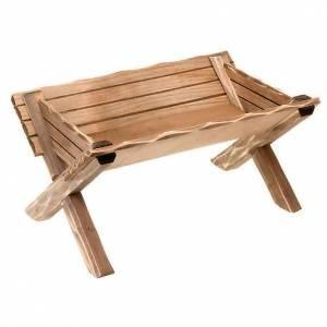 Szopka Val Gardena: Kołyska z drewna dla figur Dzieciątka Jezus