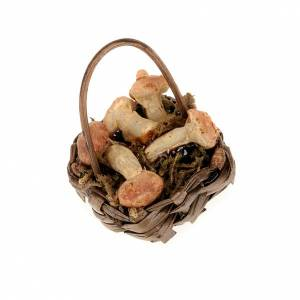 Essen Miniaturen: Korb mit Pilzen Krippe