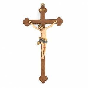 Kruzifixe aus Holz: Kleines hanbemaltes Kruzifix