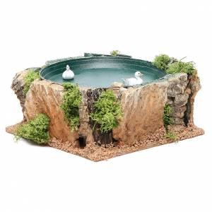 Lac avec canards en mouvement 7x15x15 cm s3