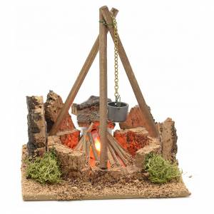 Krippe Öfen und Lagerfeuer: Lagerfeuer mit Dreifuß