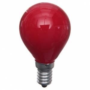 Luci presepe e lanterne: Lampada 25W rossa E14 per illuminazione presepi