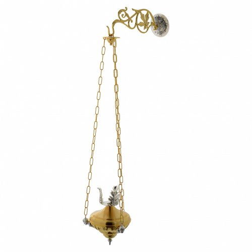 Lampada a sospensione Santissimo 20 cm ottone angeli s2