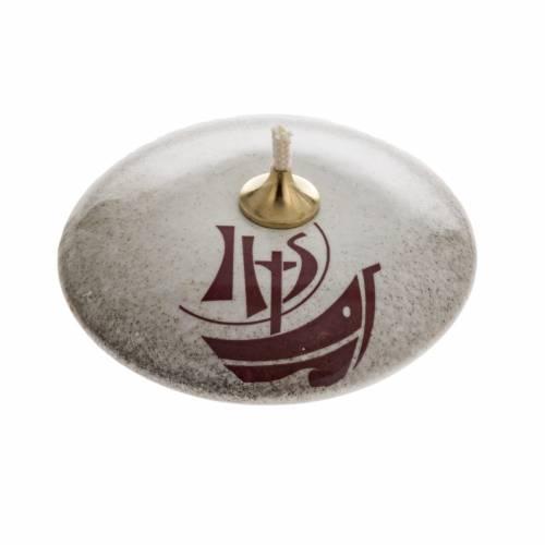 STOCK Lampada ad olio ceramica perla Anno della Fede s1