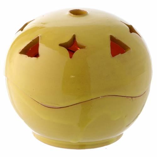 Lampada gialla ceramica sfera s1