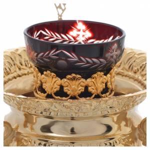 Lampade per il Santissimo: Lampada per Santissimo Ortodossa in ottone cm 15x15