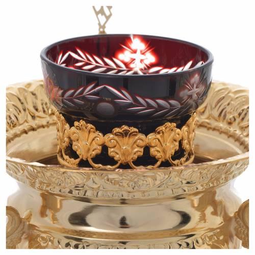 Lampada per Santissimo Ortodossa in ottone cm 15x15 s2