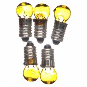 Luci presepe e lanterne: Lampadina E5,5 gialla 5 pz. 3v.