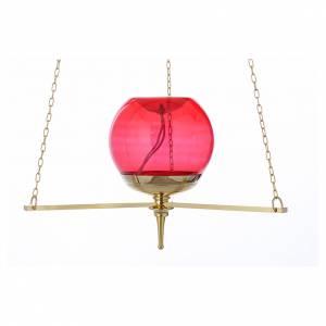 Lampe du Sanctuaire suspendue dorée s2