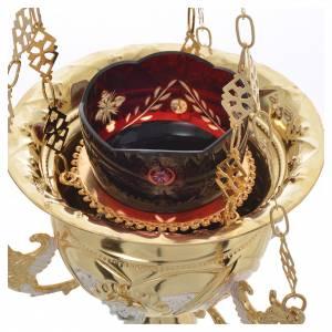 Lampe Très-Saint-Sacrement orthodoxe dorée 15x15 cm s6