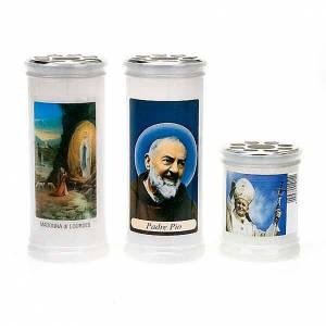 Veilleuses votives diverses: Lampe votive blanche, image.