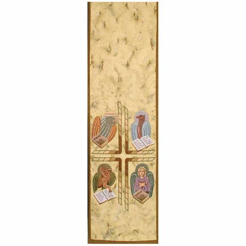 Lectern cover, 4 evangelists on golden fabric s1