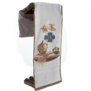 Lectern covers: Lectern cover amphora bread cross