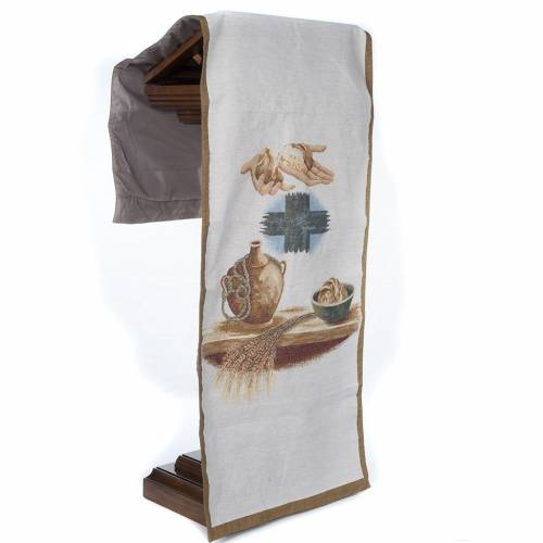 Lectern cover amphora bread cross s5