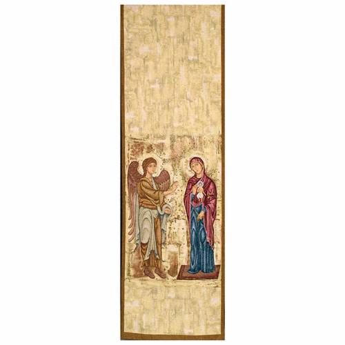 Lectern cover, Annunciation gold background s1
