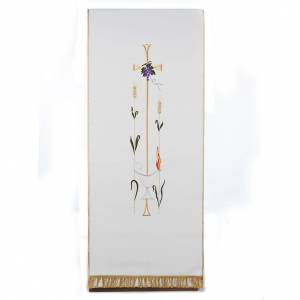 Lectern covers: Lectern Cover, cross, lamp, grapes, wheat, in liturgical colours