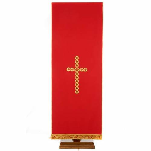 Lectern Cover, embroidered twisted cross s4