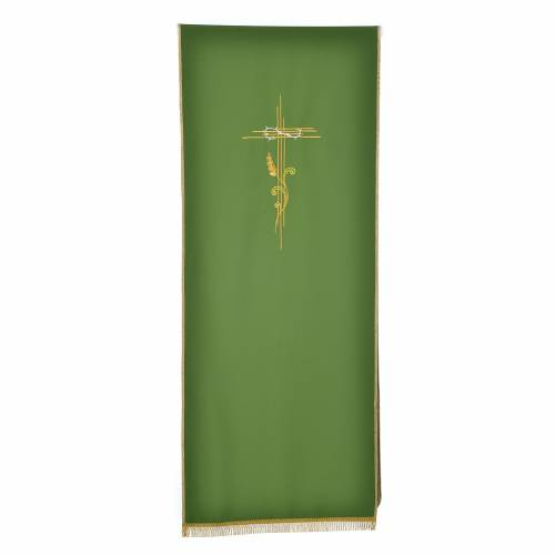 Lectern Cover in polyester, cross and intertwined ears of wheat s5