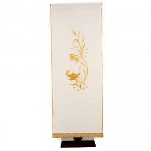 Lectern Cover with lamp, grapes, wheat symbol s4