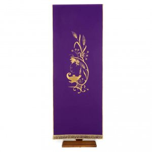 Lectern Cover with lamp, grapes, wheat symbol s1