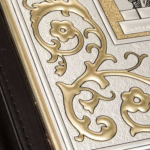 Lectionary cover in Leather with double plaque s4