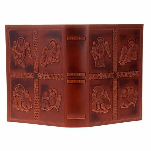 Lectionary cover, real leather 4 Evangelists s4