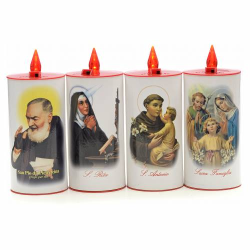 LED votive candle, white cardboard with image, lasting 70 days s1