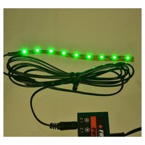 Leds bande 9 micro-leds pour Frisalight 0,8x12 cm vert s2