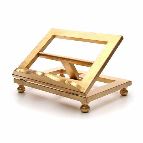 Leggio da tavolo foglia oro 35x40 cm s2
