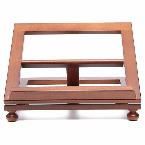Leggio da tavolo legno noce 35x28 cm s1