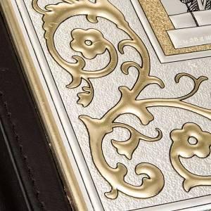 Deckel für Lektionar: Lektionareinband in echtem Leder doppelte silbrige Platte