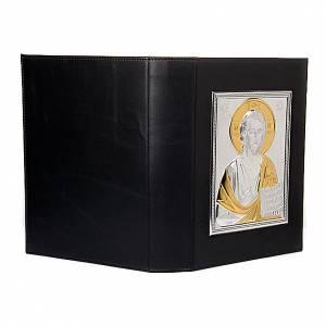 Deckel für Lektionar: Lektionareinband Platte Jesus Silber und Gold