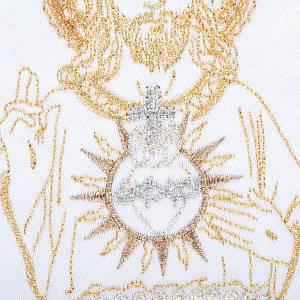 Linge d'autel 4 pcs Sacre Coeur de Jésus s3