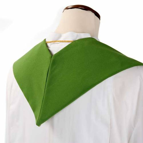 Liturgical stole with ear of wheat and fish s4