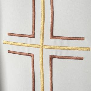 Liturgical vestment in polyester with grapes and double cross s3