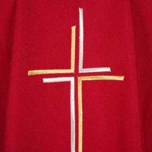 Liturgical vestment in polyester with stylized double cross s7