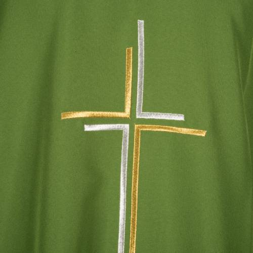 Liturgical vestment in polyester with stylized double cross s5