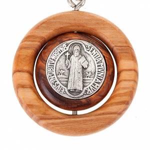 Llavero con medalla giratoria de San Benito s2