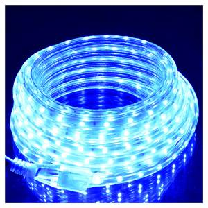 Luce di Natale tubo slim 300 led int blu s2