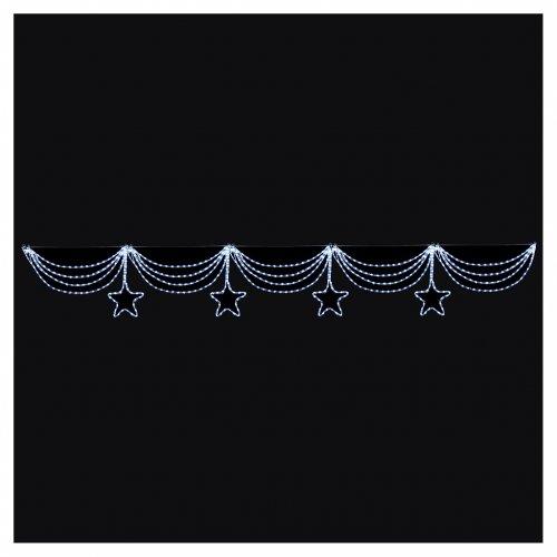 Luce festone stelle 576 led ghiaccio interno esterno s2