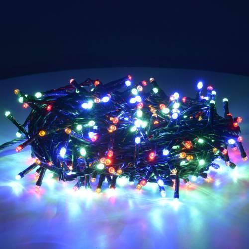 Luce Natale 300 led multicolor per interni s2