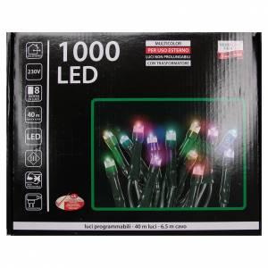 Luce Natale catena 1000 LED multicolore ESTERNO programmabili s4