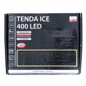 Luce natalizia tenda ICE 400 led bianco caldo ESTERNO s3